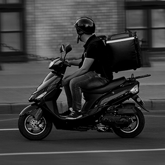 Food delivery (e-scooters) solution